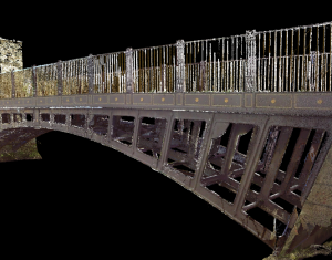 3D Laser Scan Survey of Former Toll Bridge