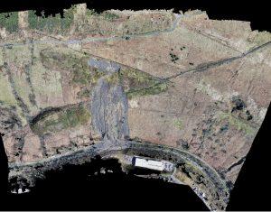 Tylorstown Landslide UAV LiDAR & Photogrammetry Survey